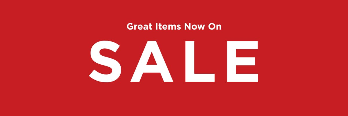 Great Items Now On Sale. Learn More.