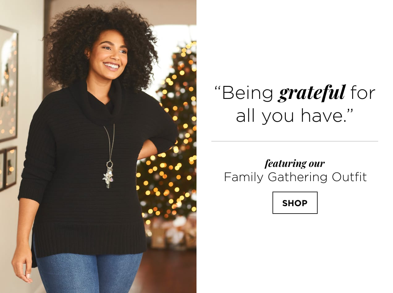 """""""Being grateful for all you have."""" Featuring our Family Gathering Outfit. Shop."""