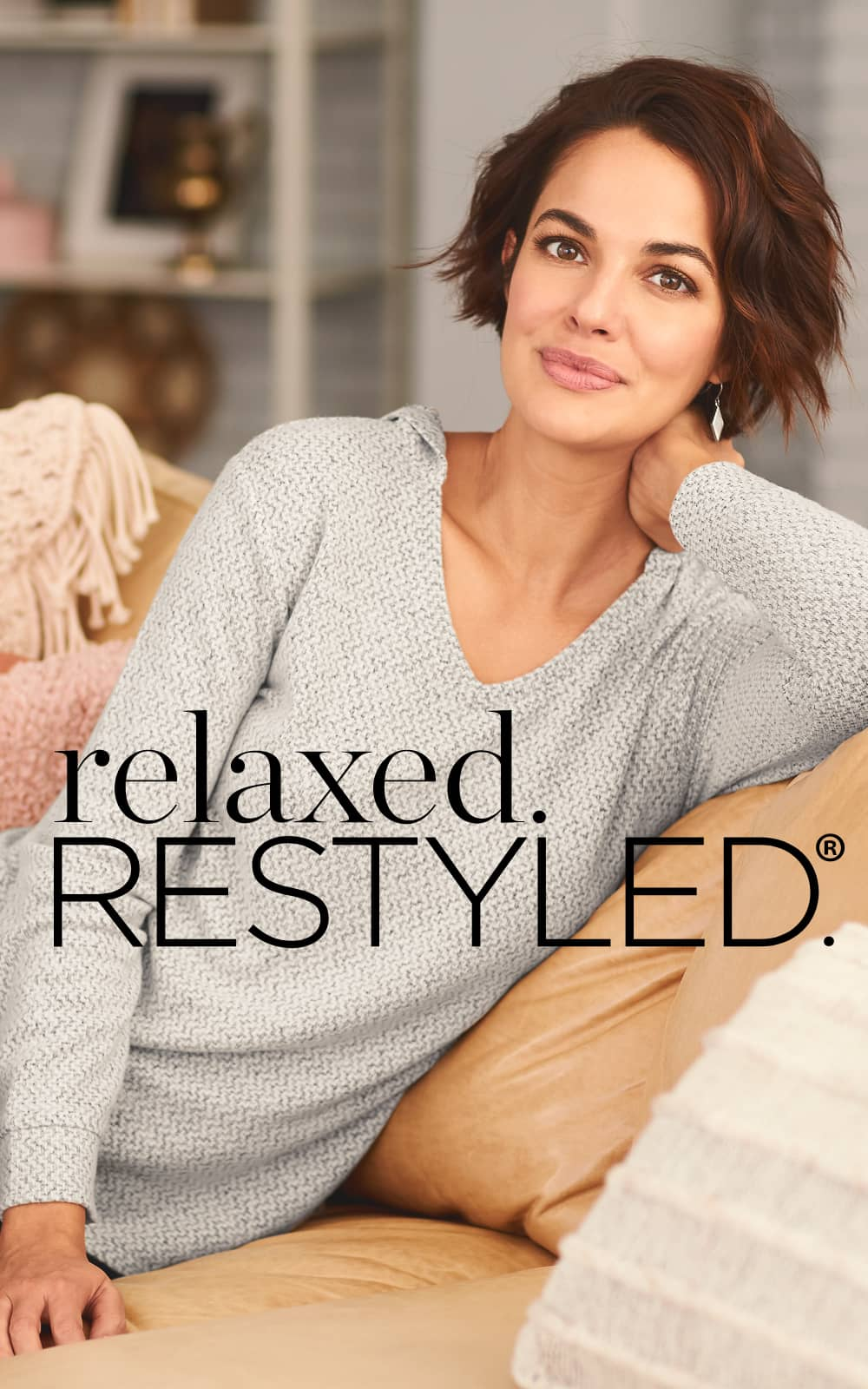Our relaxed.Restyled.® shirred side pullover top.