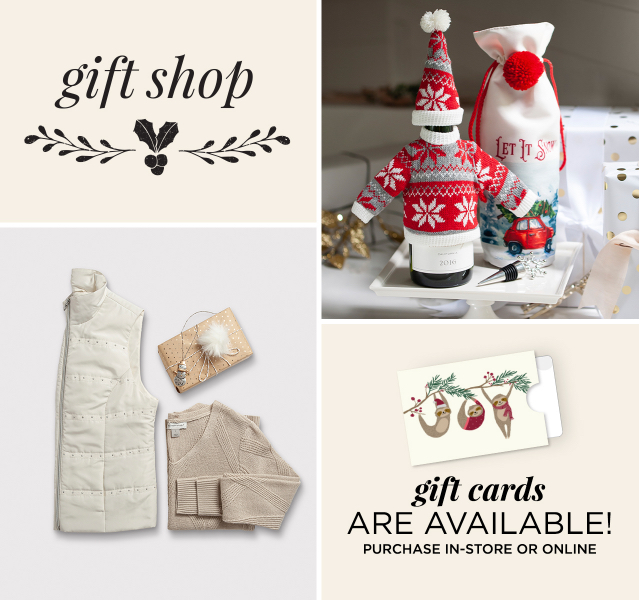 Gift Shop: Gift Cards Are Available! Purchase in-store or online.
