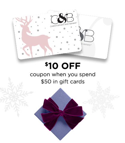 $10 Off coupon when you spend $50 in gift cards!