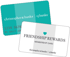 Friendship Rewards Membership Card and Christopher & Banks Credit Card image