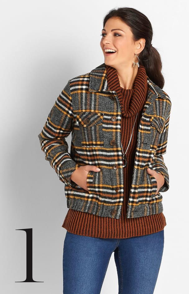 Plaid Trucker Jacket 1. Learn More.