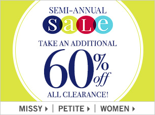 60% off clearance promo