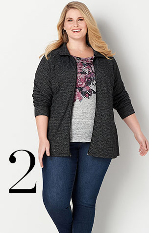 Ways-to-Wear: 2. relaxed.Restyled. Zip Up