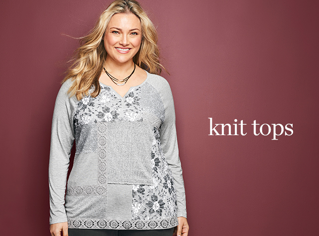 Christopher & Banks® | cj banks® Misses, Petite and Plus Size Women's Clothing Category - Women's Knit Tops