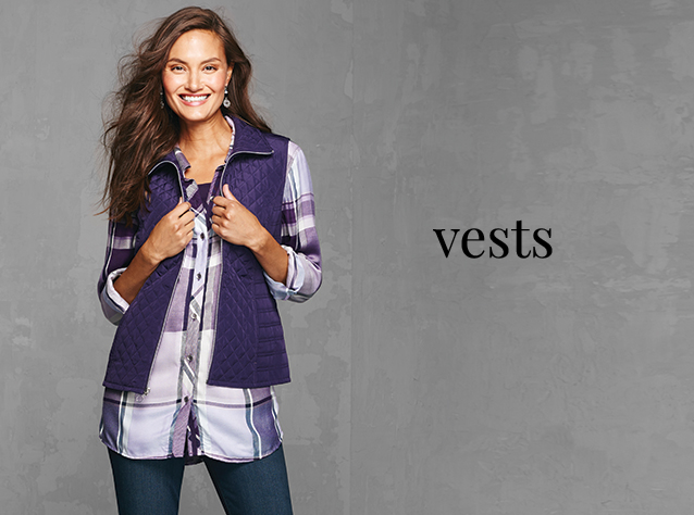 Christopher & Banks®   cj banks® Misses, Petite and Plus Size Women's Clothing Category - Vests