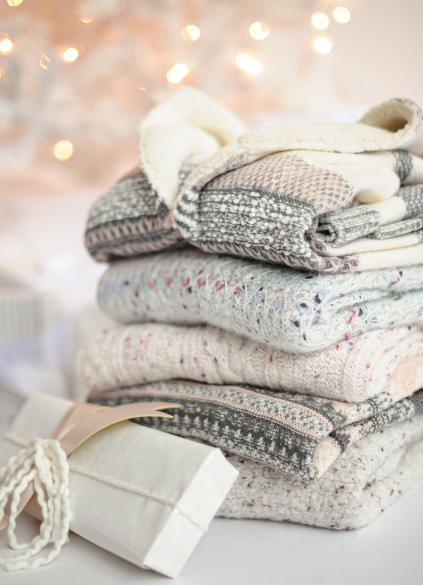 Stack of Cozy Sweaters