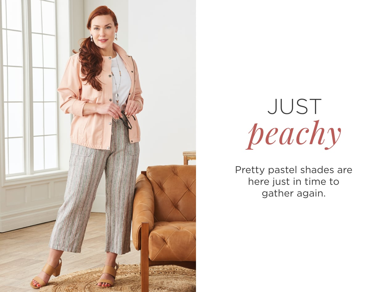 Just Peachy. Pretty pastel shades are here just in time to gather again.