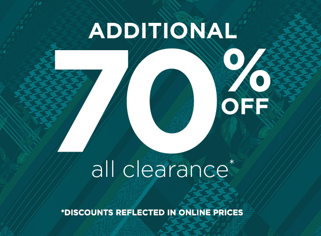 Additional 70% Off All Clearance