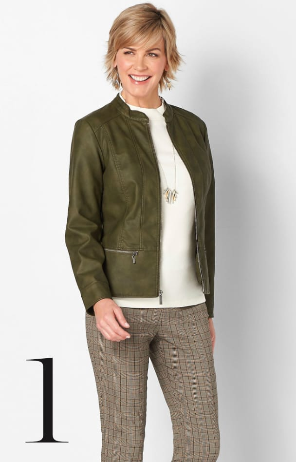 Faux Leather Jacket 1. Learn More.