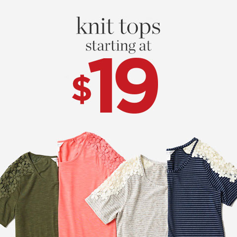 Knit tops $24