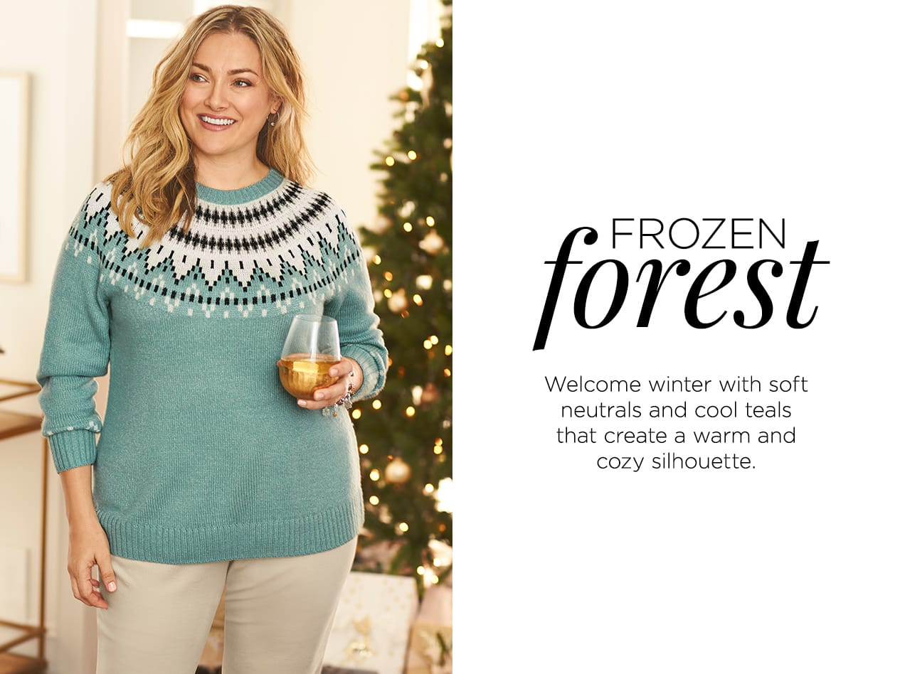 Collections: Frozen Forest - Welcome winter with soft neutrals and cool teals that create a warm and cozy silhouette.