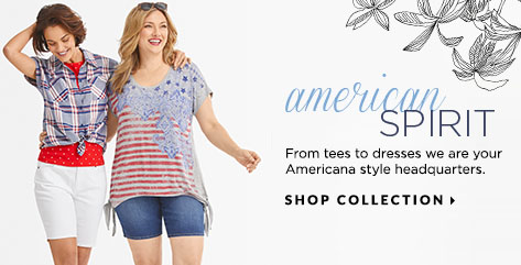 American Spirit: From tees to dresses, we are your Americana-style headquarters. Shop Collection.
