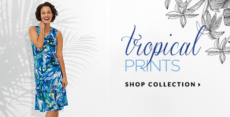 Tropical prints. Shop Collection.