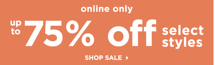Sale: 75% off! Shop Sale.