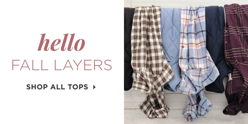 Hello, Fall Layers. Shop All Tops.