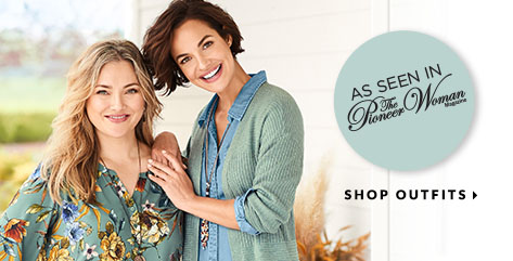 """As Seen In """"The Pioneer Woman"""" Magazine! Shop Outfits."""