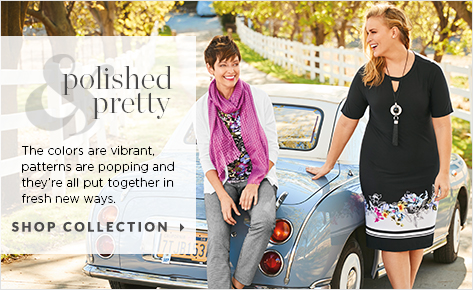 Polished & Pretty: The colors are vibrant, patterns are popping, and they're all put together in fresh, new ways. Shop Collection.