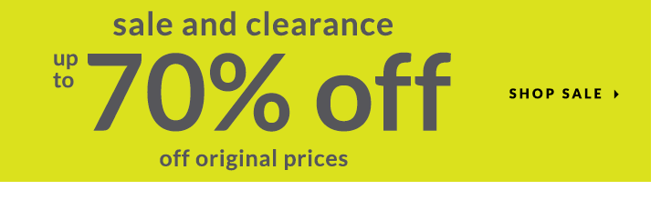 All sale and clearance: 70% off!