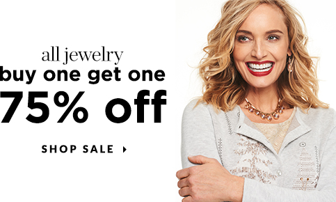 All Jewelry: Buy One, Get One at 75% Off! Shop Sale!